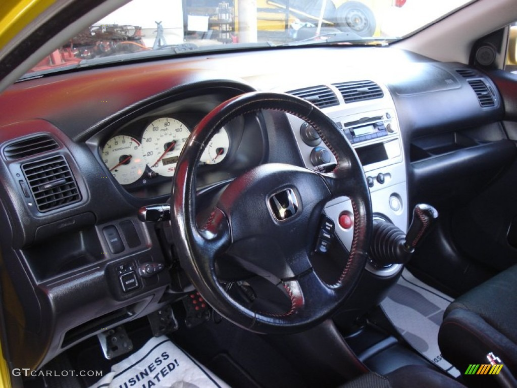 Black Interior 2002 Honda Civic Si Hatchback Photo 50988069