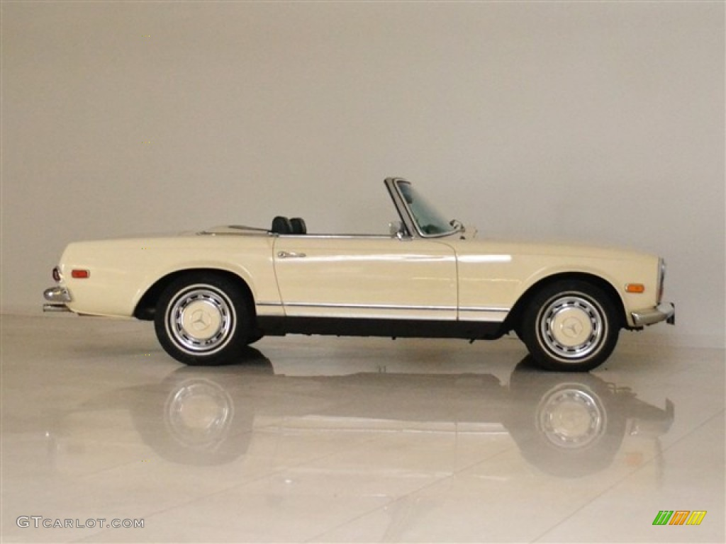 light ivory 1969 mercedes benz sl class 280 sl roadster. Black Bedroom Furniture Sets. Home Design Ideas
