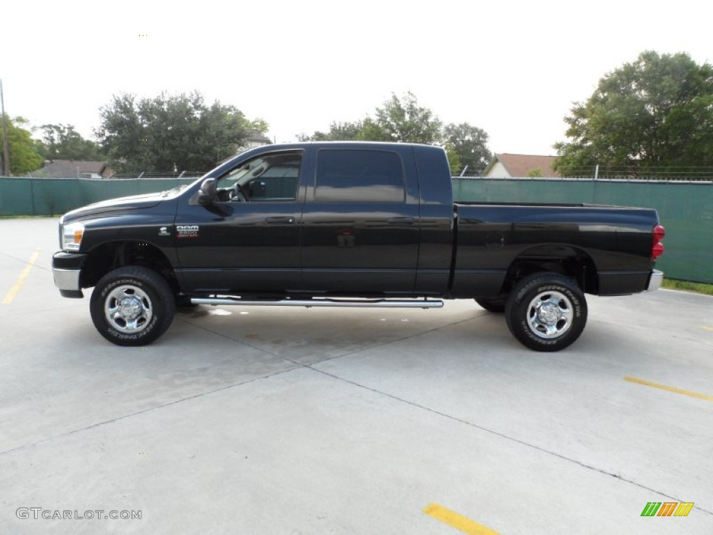 brilliant black 2007 dodge ram 2500 slt mega cab 4x4. Black Bedroom Furniture Sets. Home Design Ideas