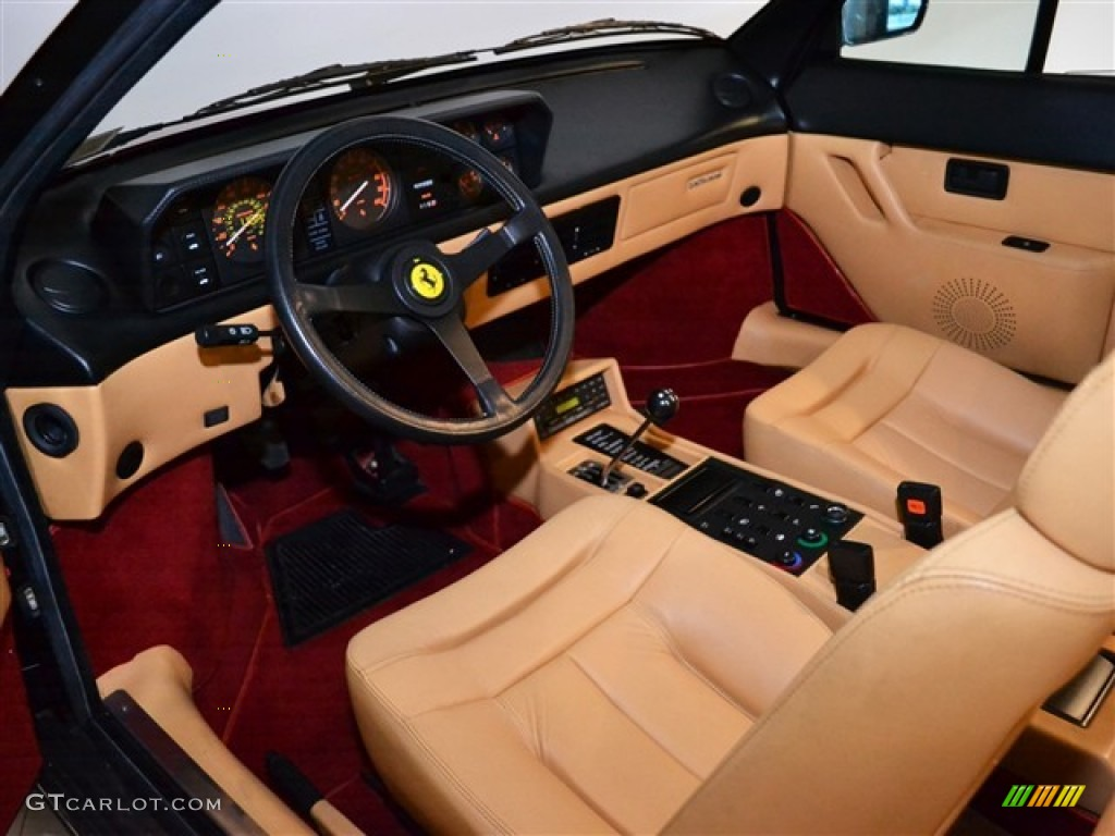 tan interior 1987 ferrari mondial cabriolet photo 51010345. Black Bedroom Furniture Sets. Home Design Ideas