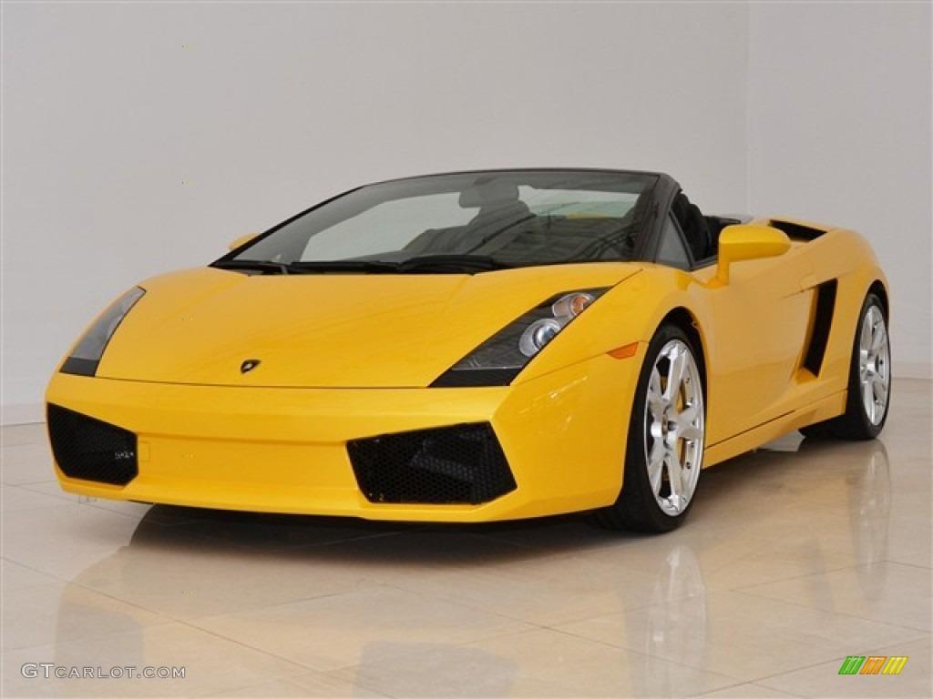Giallo Midas Yellow 2008 Lamborghini Gallardo Spyder E Gear Exterior Photo 51012514