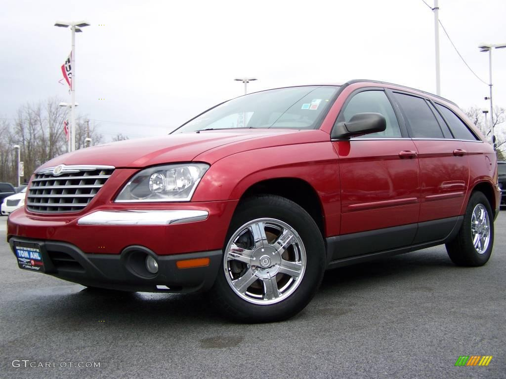 2005 Inferno Red Crystal Pearl Chrysler Pacifica Touring