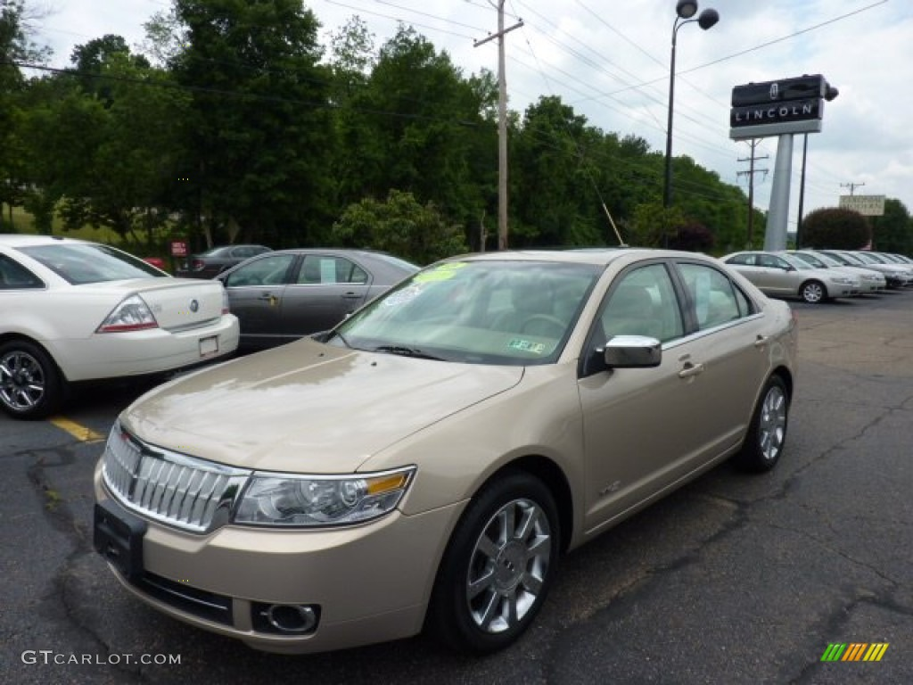 2008 MKZ Sedan - Dune Pearl Metallic / Sand photo #1