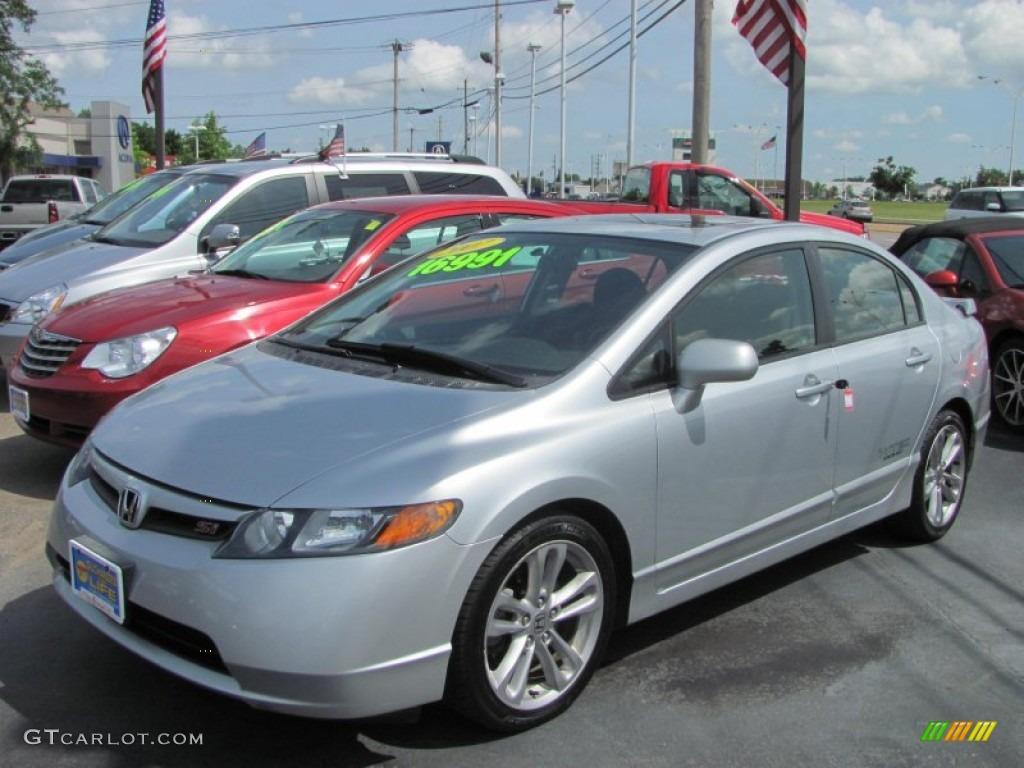 Alabaster Silver Metallic Honda Civic Si Sedan