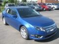 2011 Blue Flame Metallic Ford Fusion SEL  photo #2