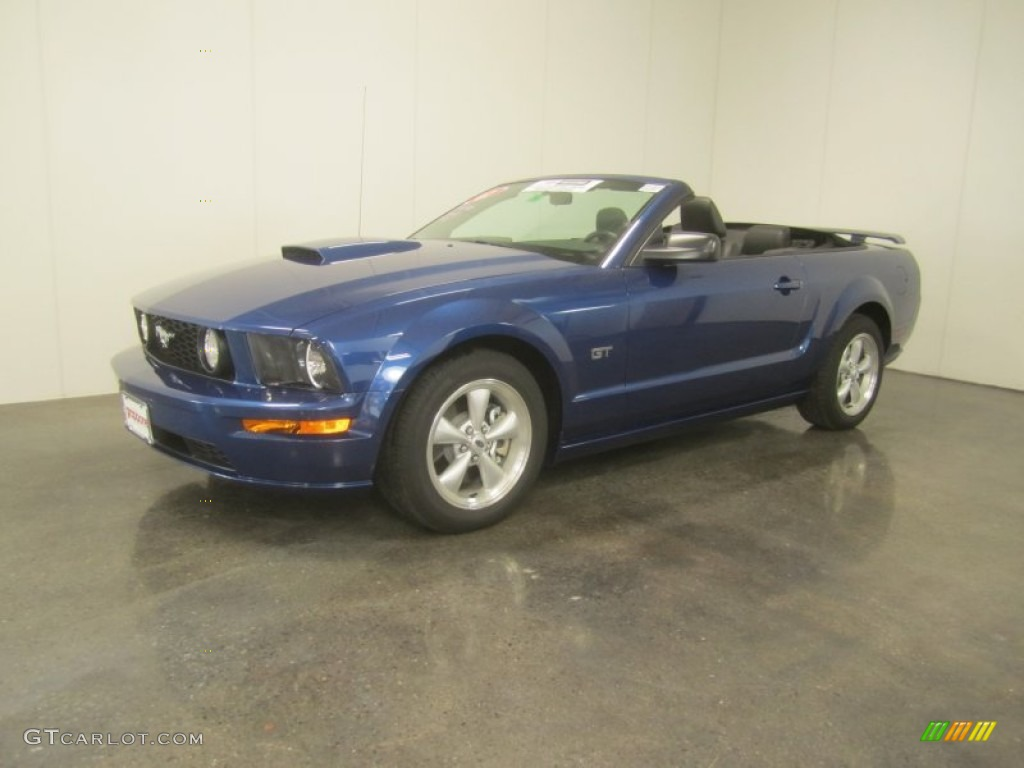 2007 Mustang GT Premium Convertible - Vista Blue Metallic / Dark Charcoal photo #1