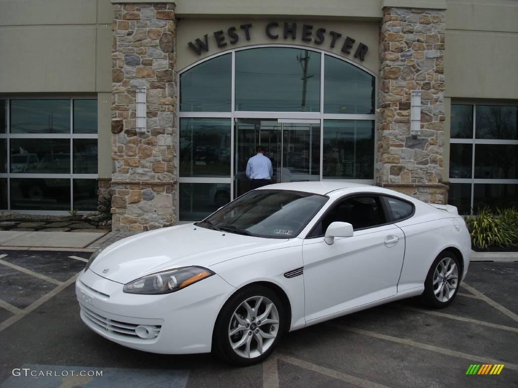 2007 captiva white hyundai tiburon gt 5089448 gtcarlot. Black Bedroom Furniture Sets. Home Design Ideas