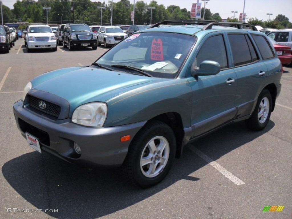2001 Pine Green Hyundai Santa Fe Gls V6 4wd 50998801