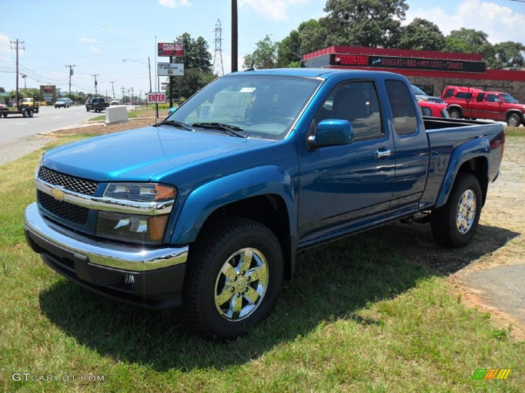 2011 aqua blue metallic chevrolet colorado lt extended cab. Black Bedroom Furniture Sets. Home Design Ideas