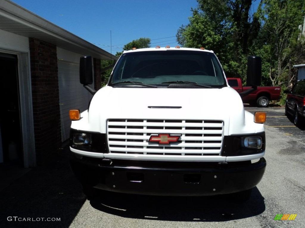 2004 C Series Kodiak C4500 Regular Cab Dump Truck - Summit White / Gray photo #3