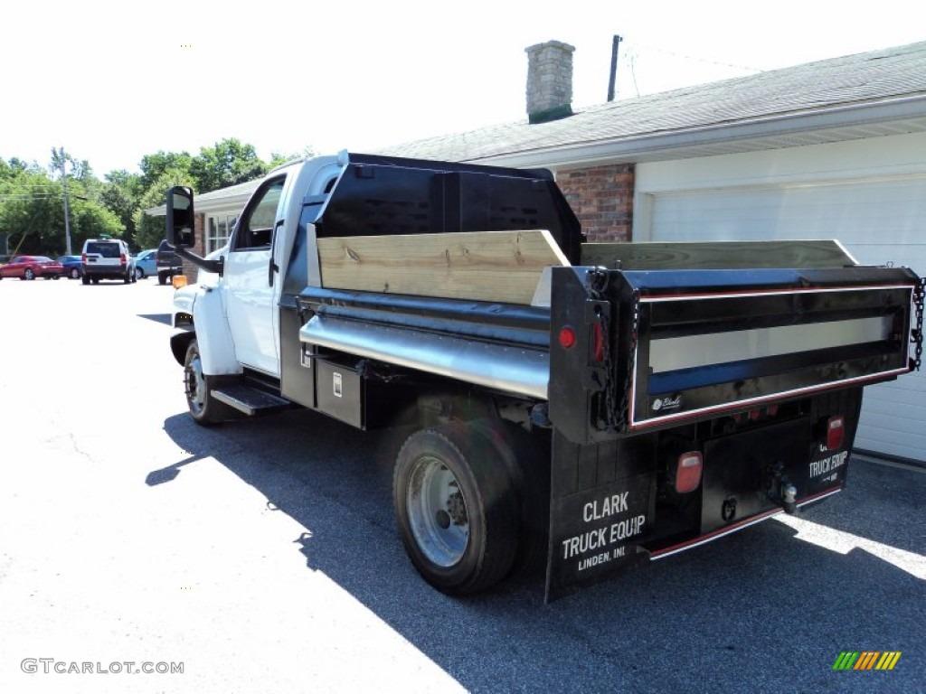 2004 C Series Kodiak C4500 Regular Cab Dump Truck - Summit White / Gray photo #9
