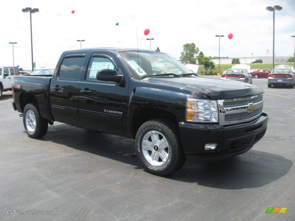 2011 Silverado 1500 LTZ Crew Cab 4x4 - Black / Dark Cashmere/Light Cashmere photo #3