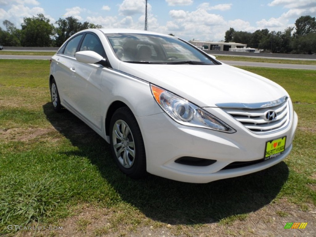 2012 hyundai sonata gls shimmering white color camel interior. Black Bedroom Furniture Sets. Home Design Ideas