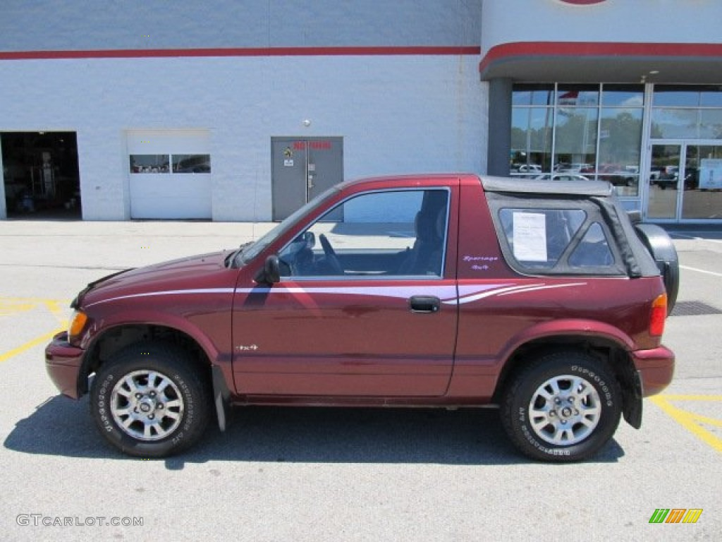 classic red 2001 kia sportage 4x4 exterior photo 51103205. Black Bedroom Furniture Sets. Home Design Ideas