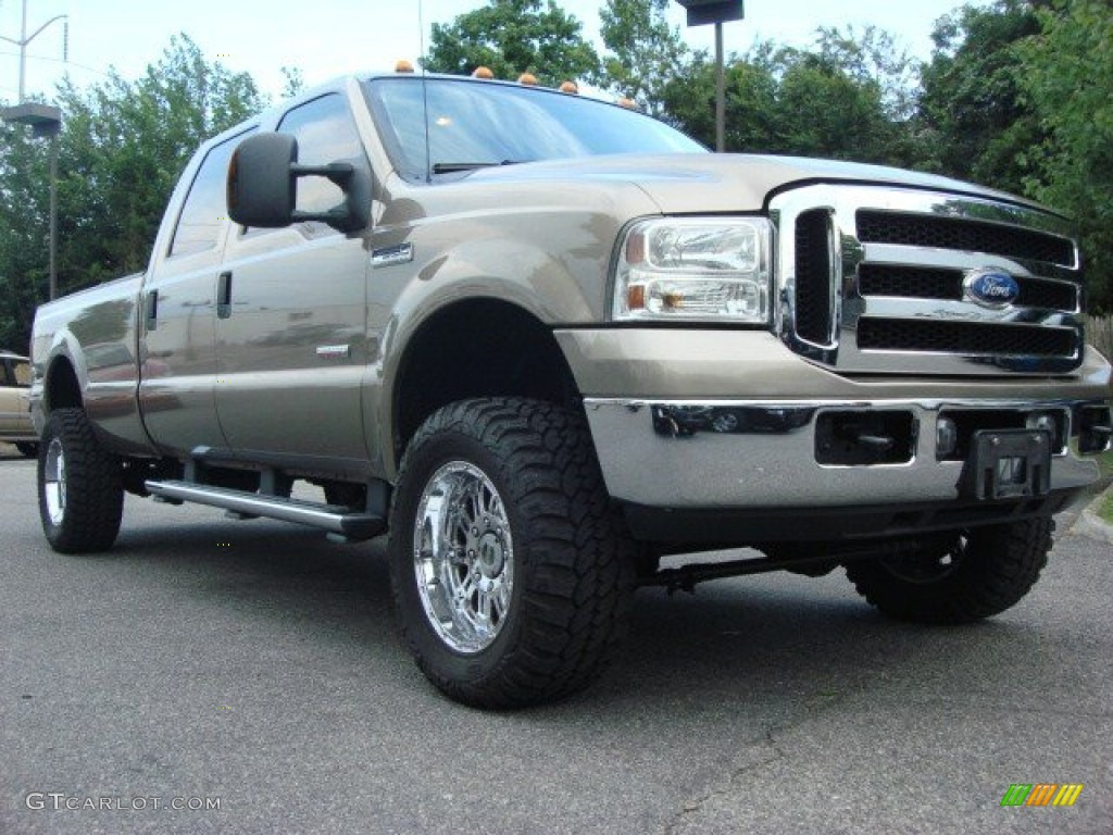 2007 arizona beige metallic ford f350 super duty xlt crew. Black Bedroom Furniture Sets. Home Design Ideas