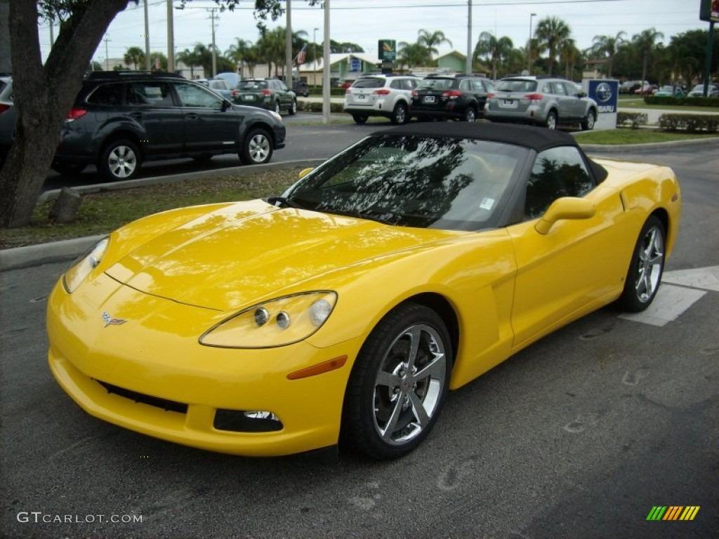 Velocity Yellow 2008 Chevrolet Corvette Convertible