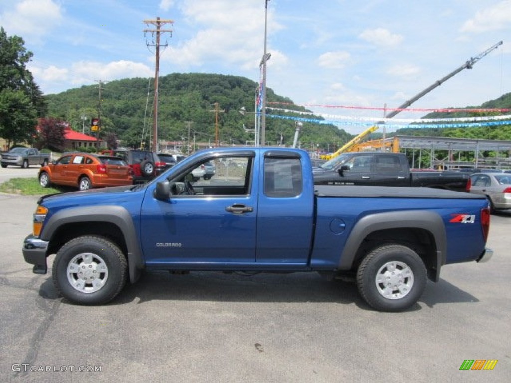 superior blue metallic 2005 chevrolet colorado z71 extended cab