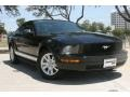 2007 Black Ford Mustang V6 Deluxe Coupe  photo #1