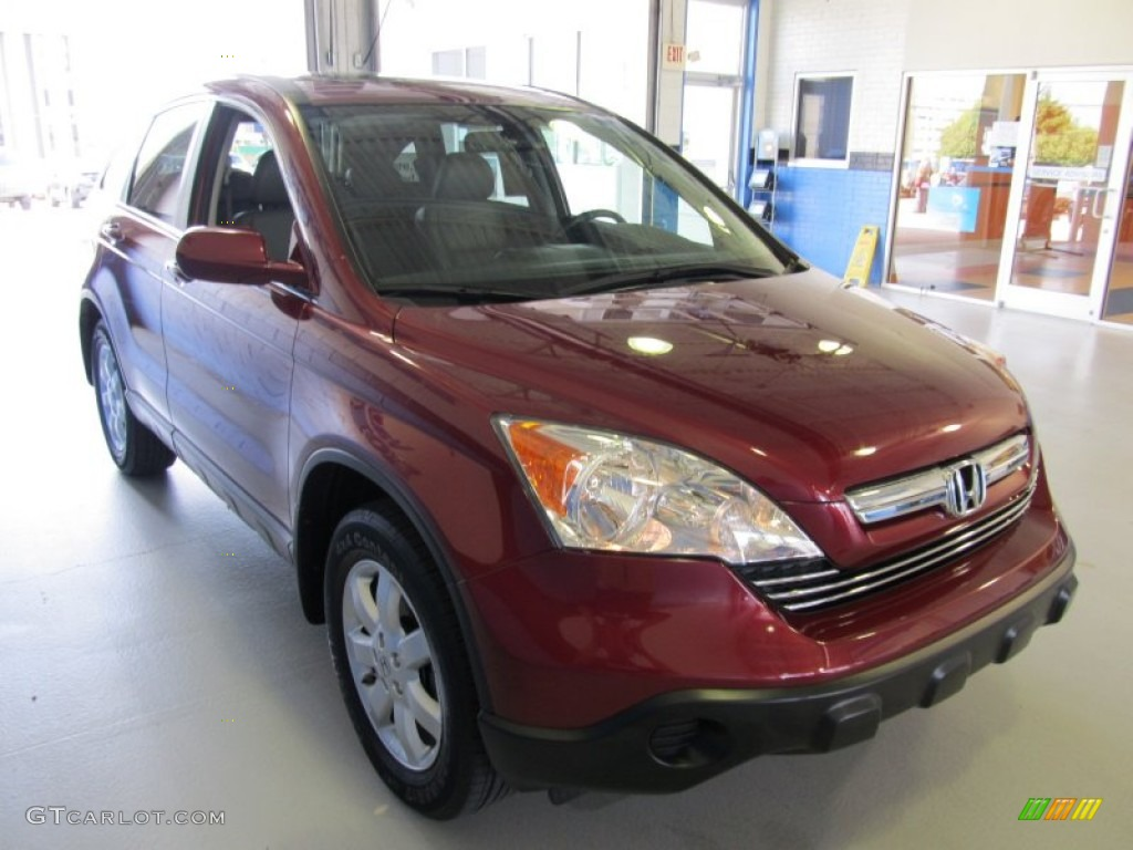 2009 CR-V EX-L 4WD - Tango Red Pearl / Gray photo #4