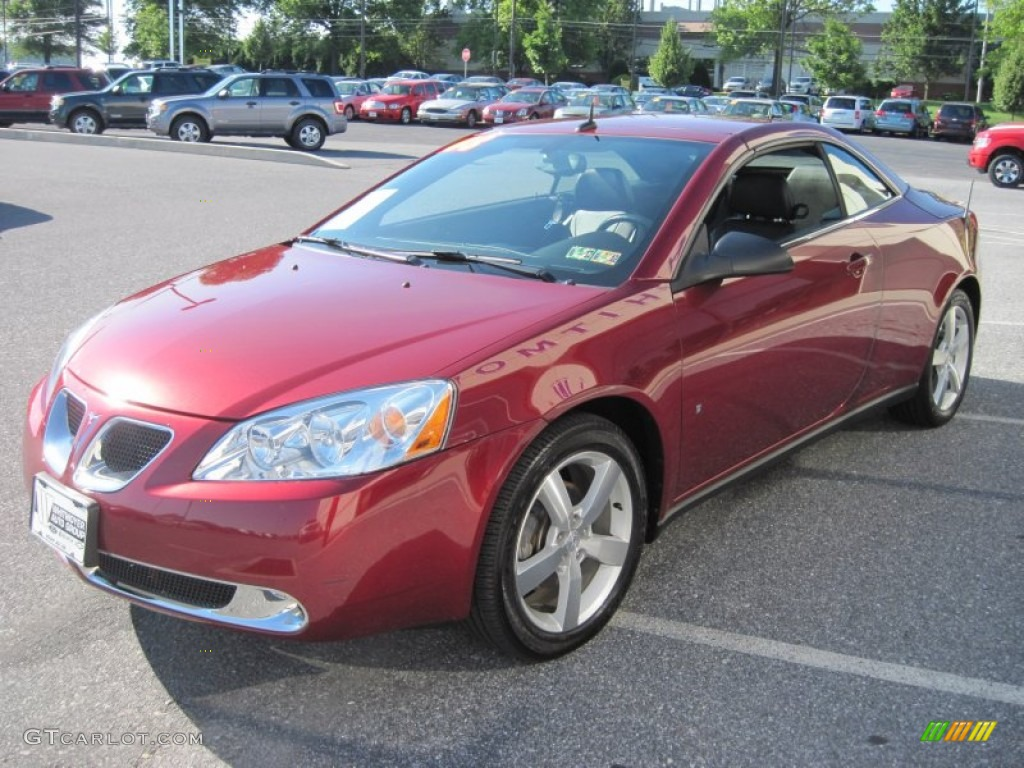 performance red metallic 2008 pontiac g6 gt convertible. Black Bedroom Furniture Sets. Home Design Ideas