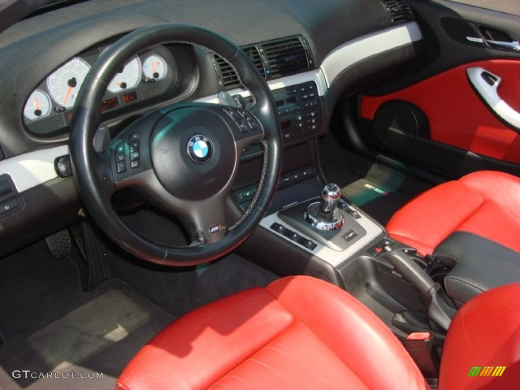 Imola Red Interior 2004 Bmw M3 Convertible Photo 51219488