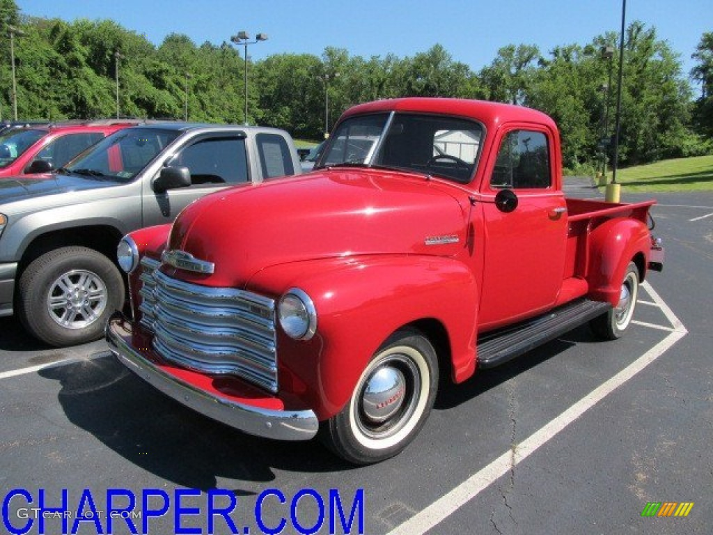 1951 Bright Red Chevrolet Pickup Truck 51189371 Photo 16