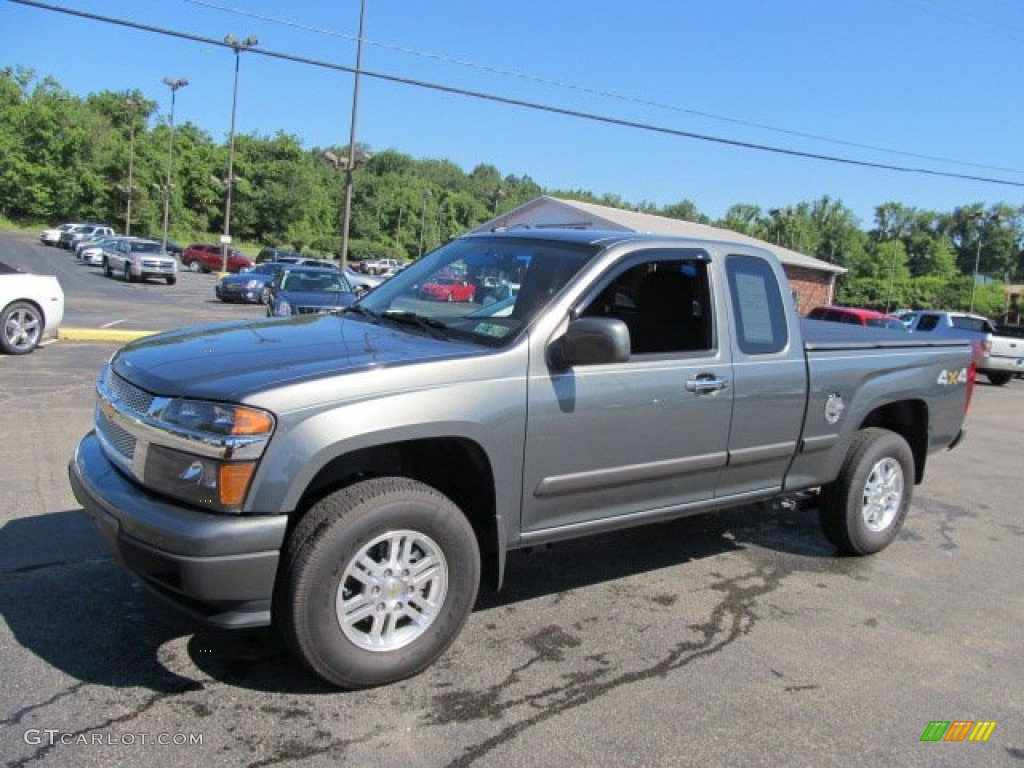 steel green metallic 2011 chevrolet colorado lt extended. Black Bedroom Furniture Sets. Home Design Ideas