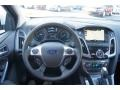 2012 White Platinum Tricoat Metallic Ford Focus Titanium 5-Door  photo #29