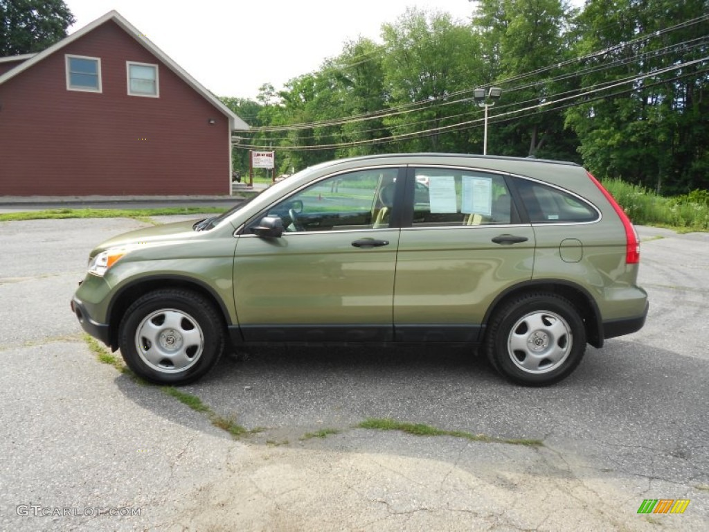 green tea metallic 2009 honda cr v lx 4wd exterior photo