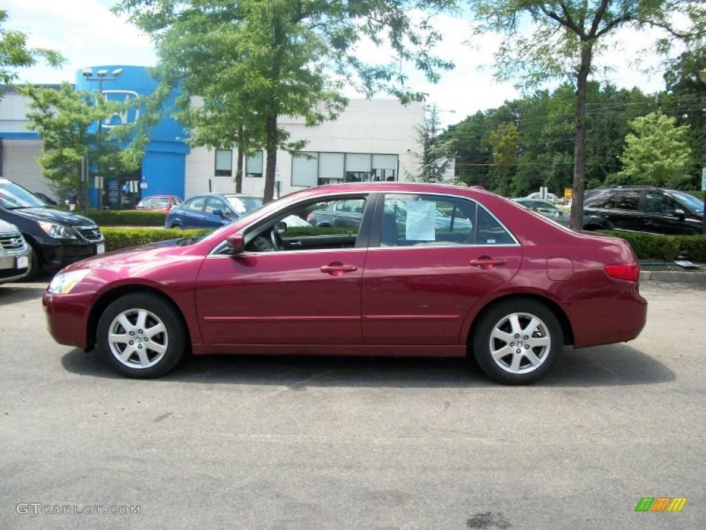 2005 redondo red pearl honda accord ex l v6 sedan 51242365 car color galleries. Black Bedroom Furniture Sets. Home Design Ideas