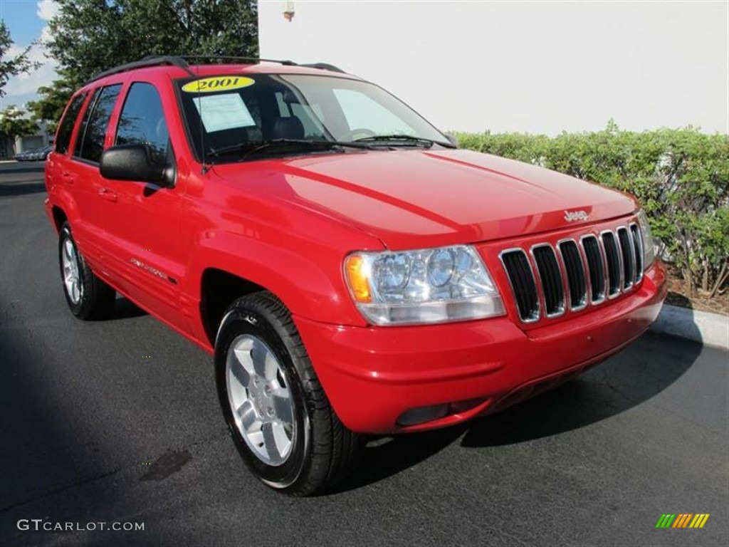2001 flame red jeep grand cherokee limited 4x4 #51268039