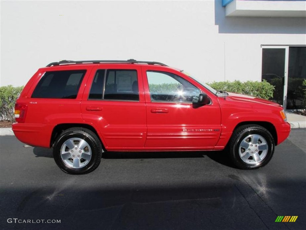 flame red 2001 jeep grand cherokee limited 4x4 exterior. Black Bedroom Furniture Sets. Home Design Ideas