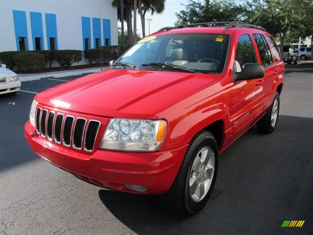 2001 flame red jeep grand cherokee limited 4x4 #51268039 photo #7