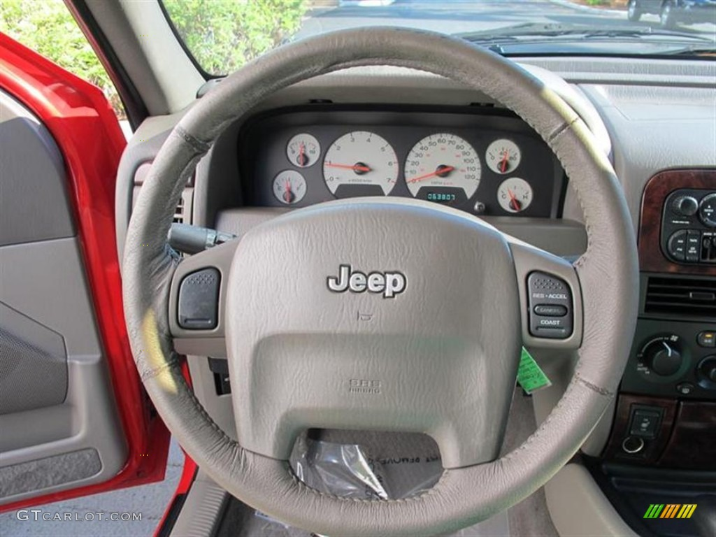 2001 Jeep Grand Cherokee Limited 4x4 Sandstone Steering