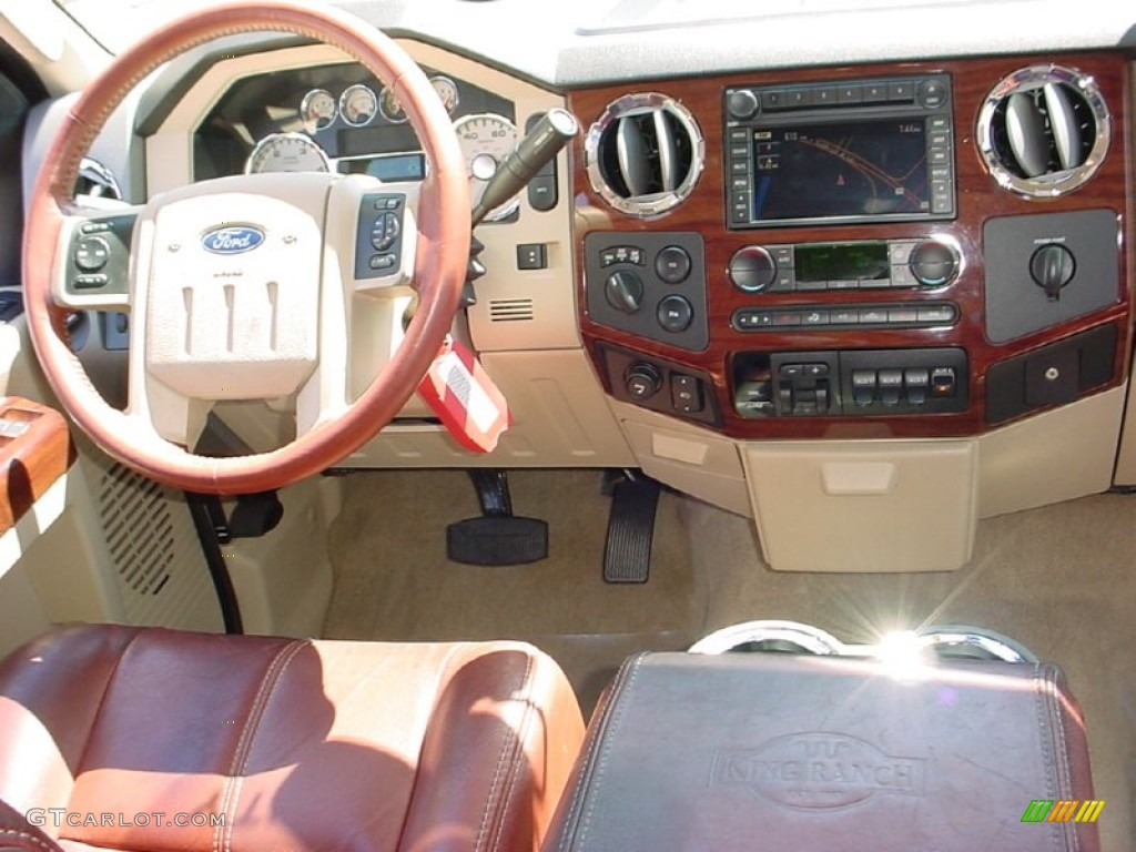 2008 Ford F350 Super Duty King Ranch Crew Cab 4x4 Chaparral Brown Dashboard Photo 51279382