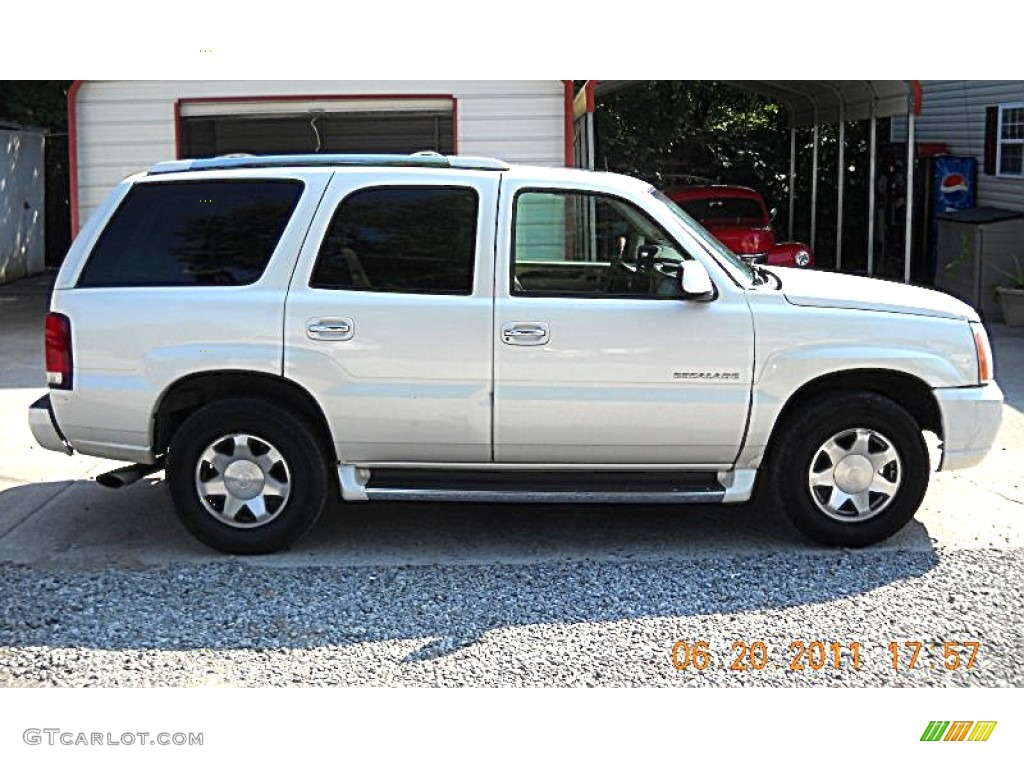 2002 escalade awd white diamond shale photo 1