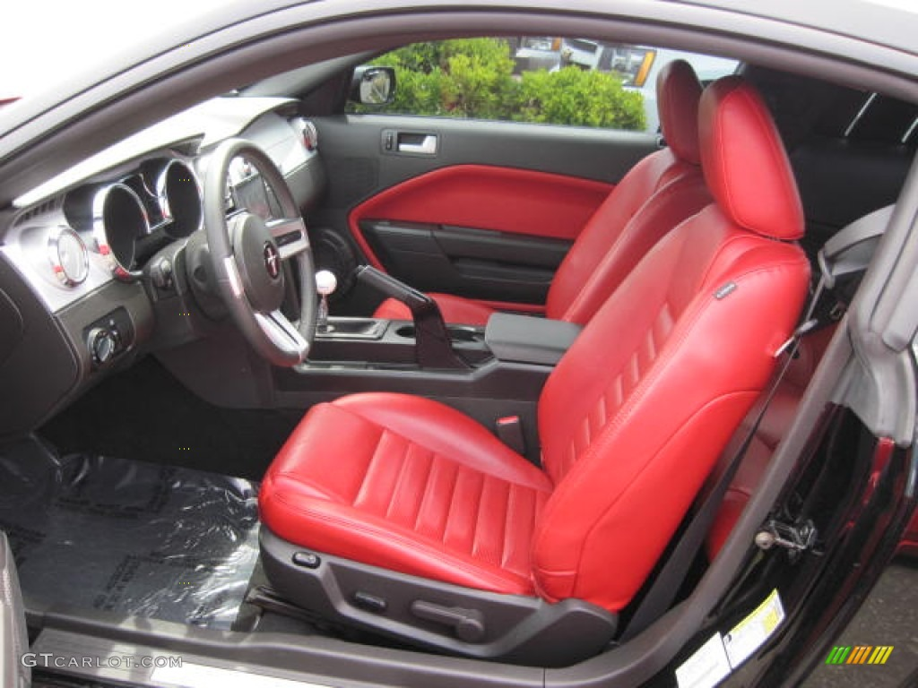 Black Red Interior 2008 Ford Mustang Gt Premium Coupe Photo 51311500