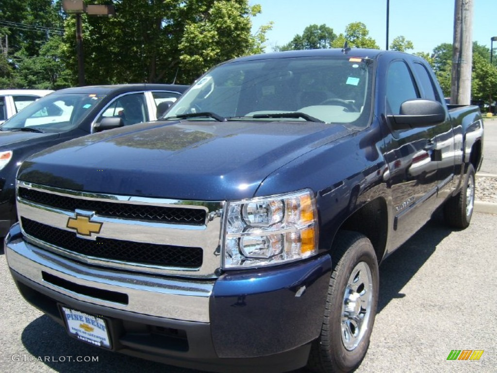2011 Silverado 1500 LS Extended Cab - Imperial Blue Metallic / Dark Titanium photo #1