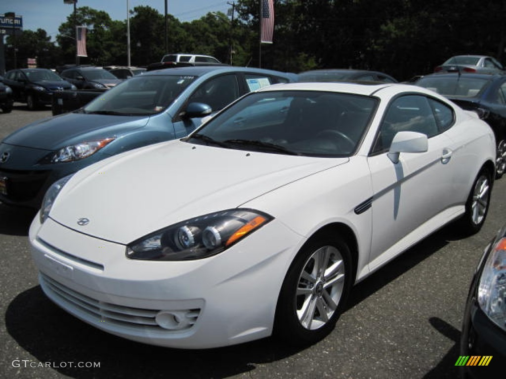 2008 Tiburon GS - Captiva White / GS Black Cloth photo #1