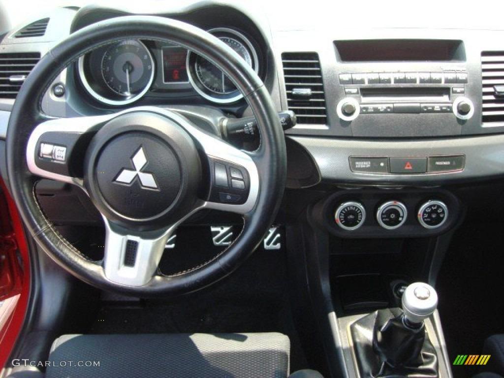 2008 Mitsubishi Lancer Evolution GSR Black Dashboard Photo #51333505 | GTCarLot.com
