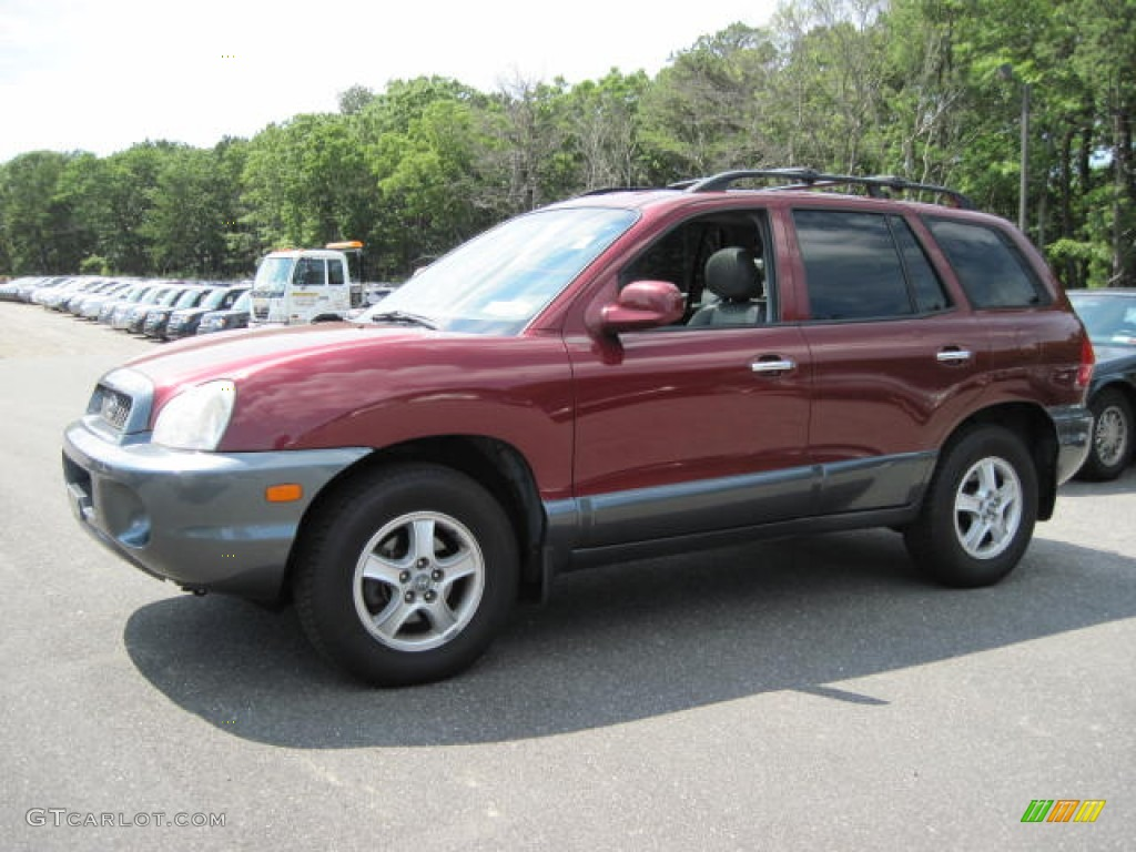 2003 merlot red hyundai santa fe gls 51289900 car color galleries. Black Bedroom Furniture Sets. Home Design Ideas