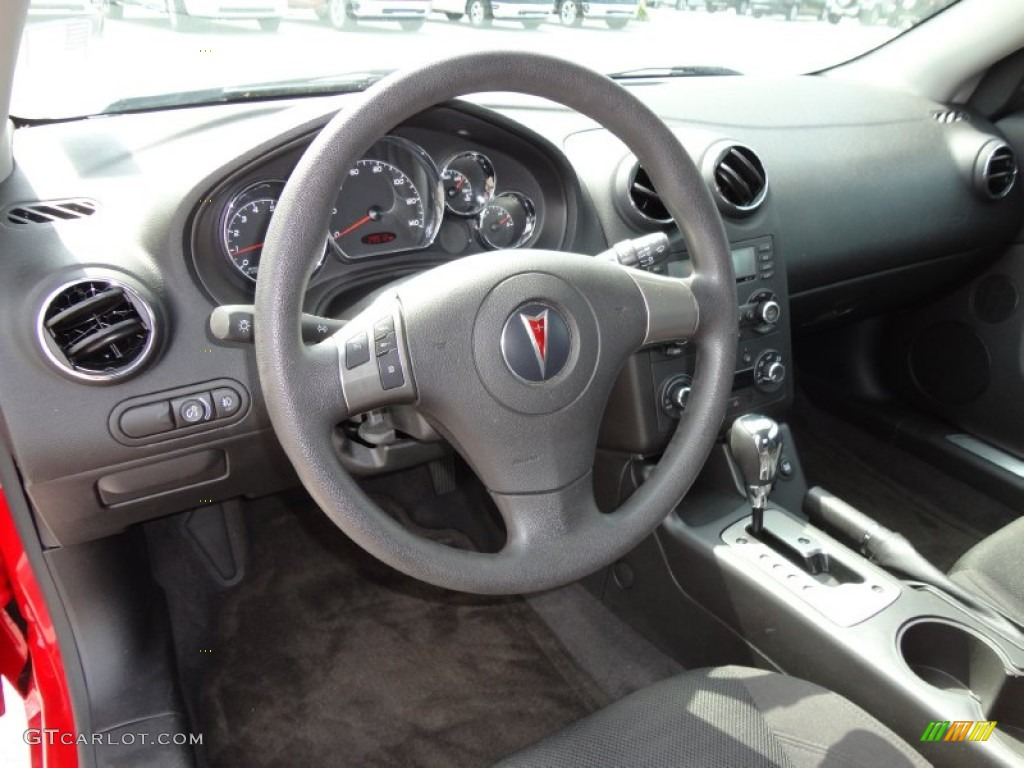 Ebony Interior 2006 Pontiac G6 Gtp Coupe Photo 51336904