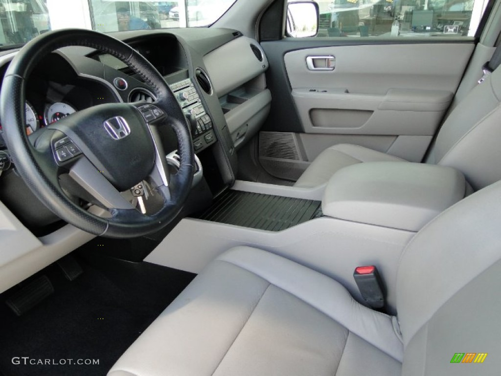 Gray Interior 2009 Honda Pilot Ex L Photo 51343198