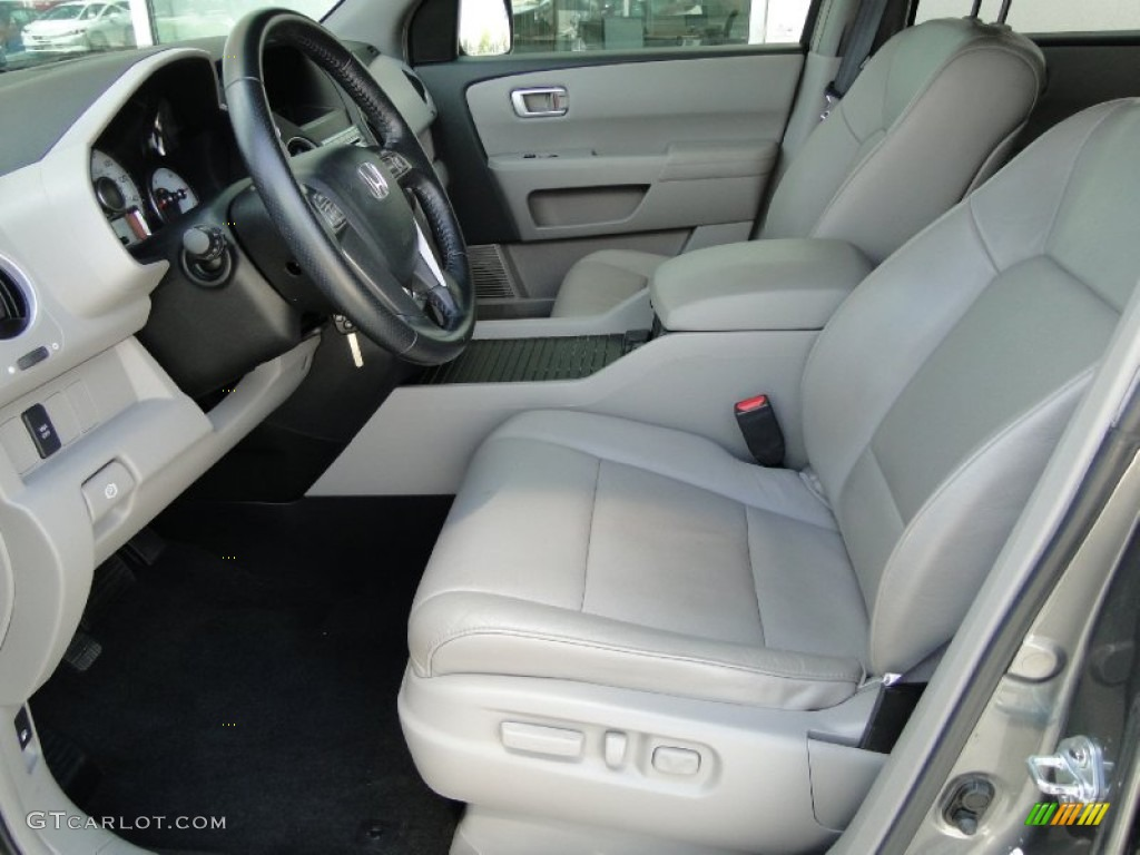 Gray Interior 2009 Honda Pilot Ex L Photo 51343207