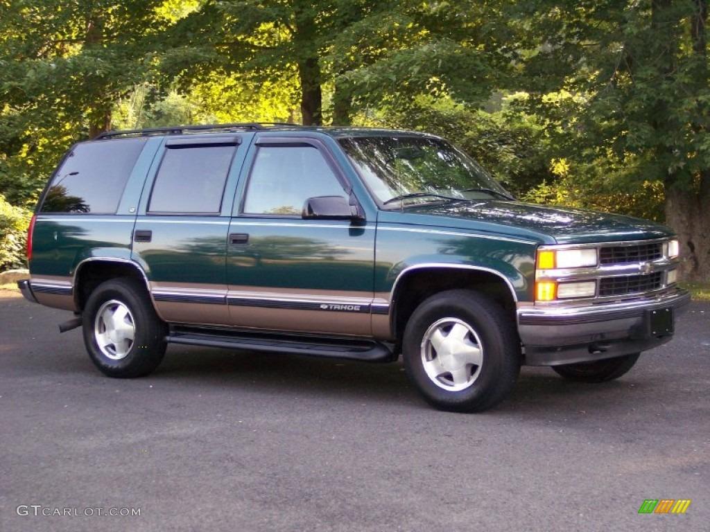 1998 emerald green metallic chevrolet tahoe lt 4x4 51288662 photo 9 car color. Black Bedroom Furniture Sets. Home Design Ideas