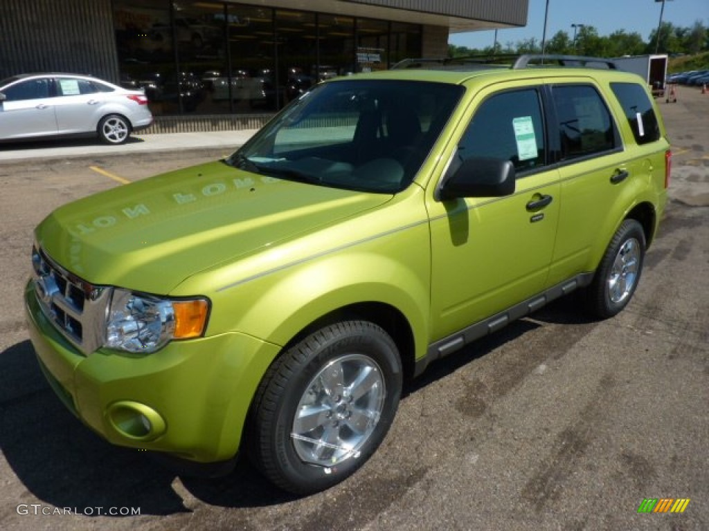 2008 Ford Escape Xls Lime Squeeze Metallic 2012 Ford Escape XLT 4WD Exterior Photo ...
