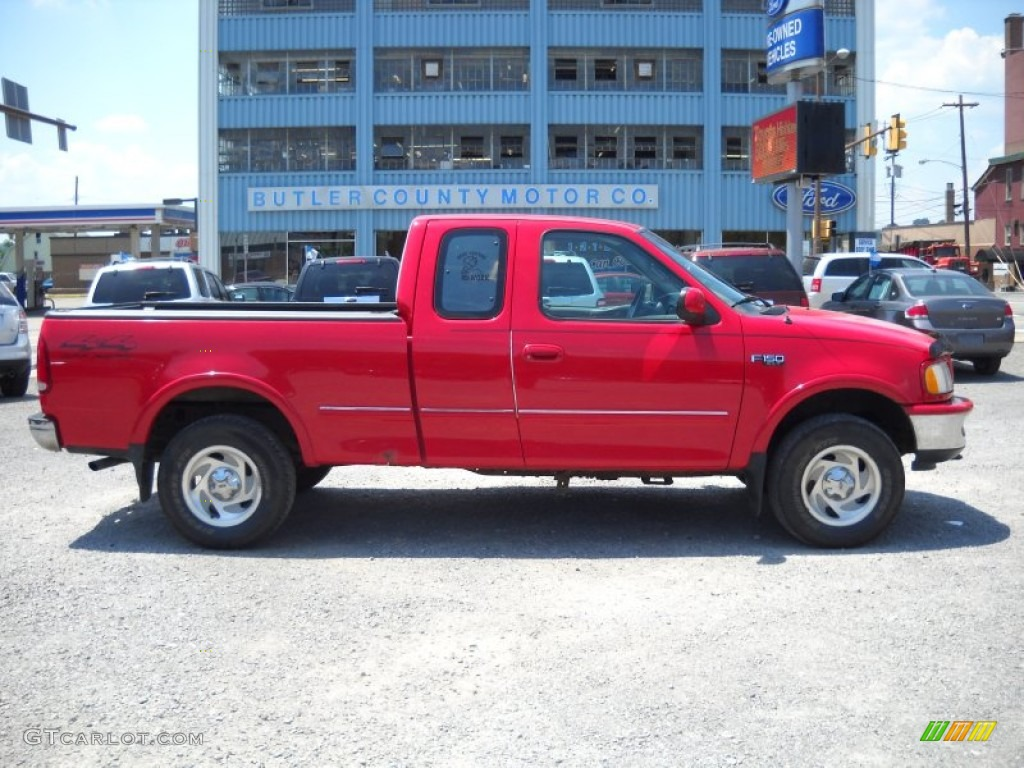 1997 bright red ford f150 xlt extended cab 4x4 51288438. Black Bedroom Furniture Sets. Home Design Ideas