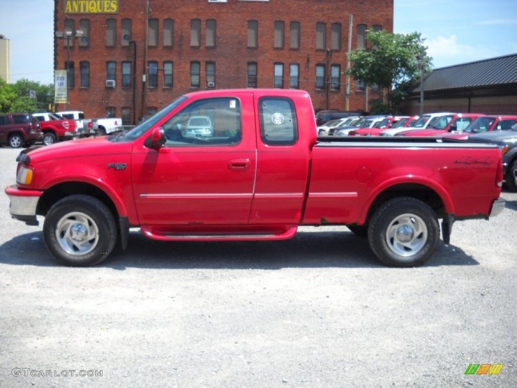 bright red 1997 ford f150 xlt extended cab 4x4 exterior photo 51392219. Black Bedroom Furniture Sets. Home Design Ideas