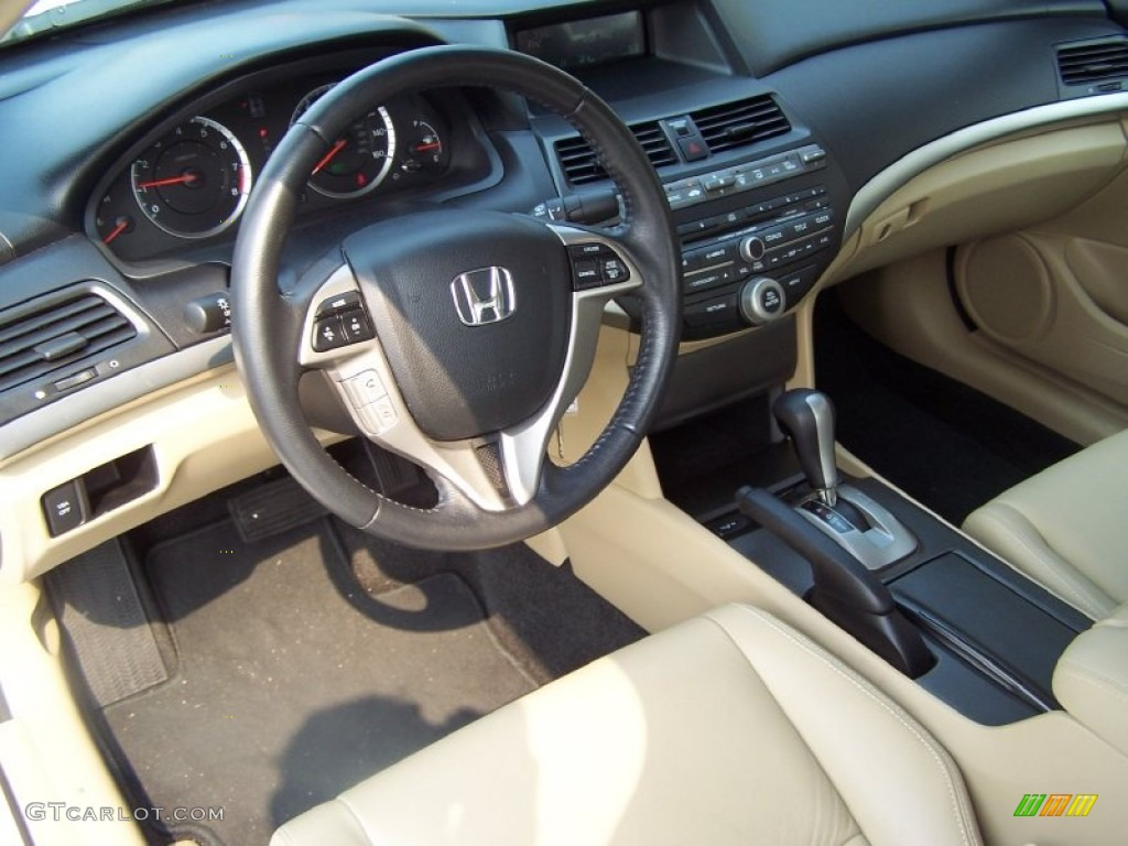 Ivory Interior 2010 Honda Accord Ex L Coupe Photo