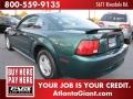 2001 Dark Highland Green Ford Mustang V6 Coupe  photo #2
